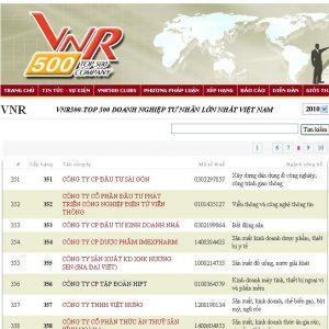 VNR top 500 - 2010